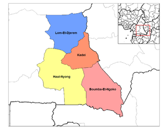Departments of Cameroon - Divisions of East province