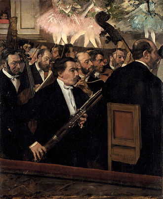 History of music in Paris - Orchestra of the Paris Opera, by Edgar Degas (1870)