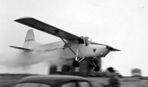 Edgar Percival E.P.9 - First prototype dusting in East Anglia, summer 1959