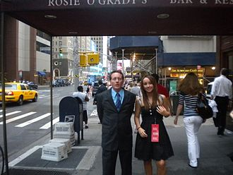 New York gubernatorial election, 2010 - Edmund M. Dunn (left) with his daughter Kelly Dunn (right).