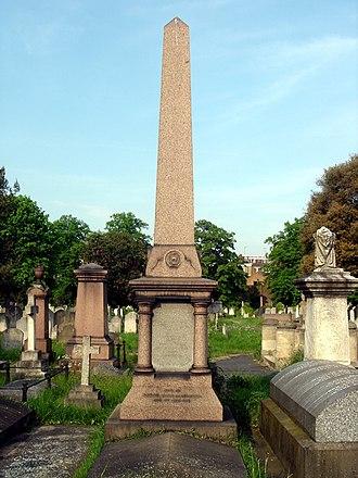 Edward Macarthur - Funerary monument, Brompton Cemetery, London