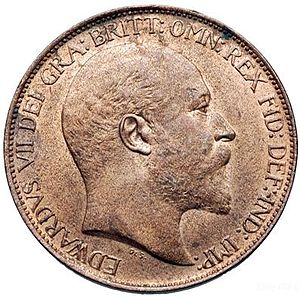 History of the halfpenny - The obverse of a halfpenny, showing Edward VII