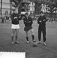 Eerste training van Feyenoord Gerard 'Pummie' Bergholtz, Frans Bouwmeester en C, Bestanddeelnr 912-8201.jpg
