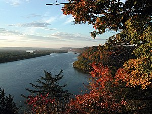 Mississippi River - Mississippi River near Fire Point in Effigy Mounds National Monument, Iowa