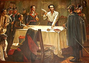 Decree of War to the Death - Simón Bolívar signs the Decree of War to the Death in 1813, during his Admirable Campaign.