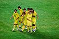 El Vila-real celebrant un gol.jpg