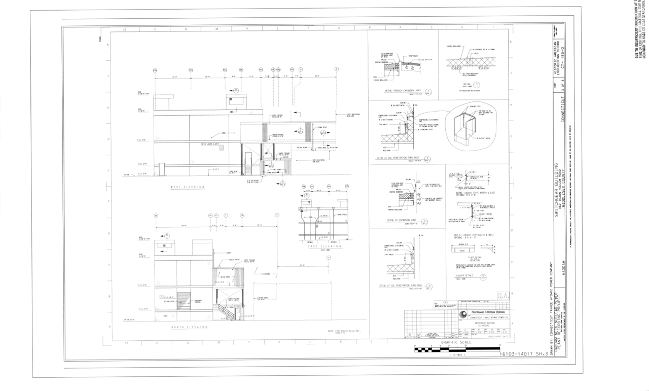 Fileelevations Haddam Neck Nuclear Power Plant Switchgear Circuit Diagram Building 362 Injun Hollow Road Middlesex County Ct Haer 185 O Sheet 3 Of