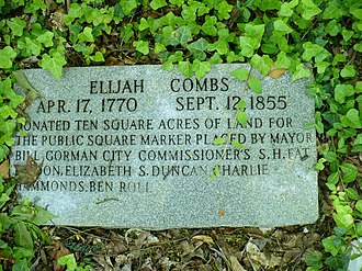 Elijah Combs - Elijah Combs (founder of Hazard and Perry County, Ky) memorial Marker (not actual grave marker)
