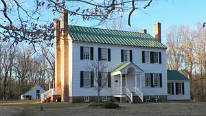 National Register of Historic Places listings in Charles County, Maryland - Image: Ellerslie at dawn