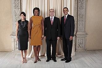 Elmar Mammadyarov - Image: Elmar Mammadyarov with Obamas