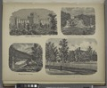 Elmira Female College; Suitherland Falls, Otter Creek, Vt; Bridge Over the River; Southern Tier Orphans Home, Elmira, N.Y. NYPL1583038.tiff