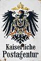 Emailleschild Kaiserliche Postagentur.jpg
