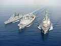 Emden (F 210), Marne (A 630) and USS Shoup (DDG-86) conduct a replenishment at sea, 2008.jpg