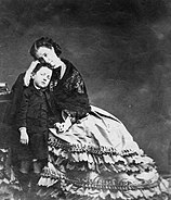 Empress Eugenie with her son 1862