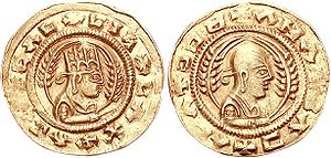 Aksumite currency - Gold coin of Endubis.