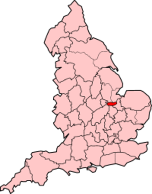 Soke of Peterborough - Soke of Peterborough shown within England