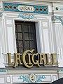 Enseigne et fronton de la Brasserie La Cigale, Nantes 09.JPG
