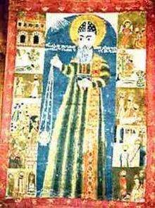 Diyarbakır Meryem Ana Kilisesi'ndeki Ephrem the Syrian ikonu.