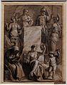 Erasmus II quellinus, studio per un frontespizio e tema astrologico, 1625-75 ca.jpg