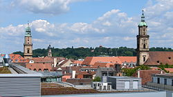 August 2012 view over Erlangen