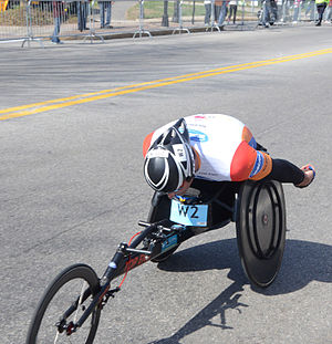 2014 Boston Marathon - Image: Ernst F. Van Dyk in 2014 Boston Marathon