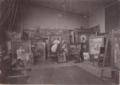 Ernst Hildebrands Atelier um 1900.png