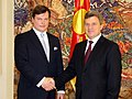 Estonias new ambassador to Macedonia Arti Hilpus presented his credentials to the president of Macedonia Gjorge Ivanov (10th September 2012) (7976420430).jpg