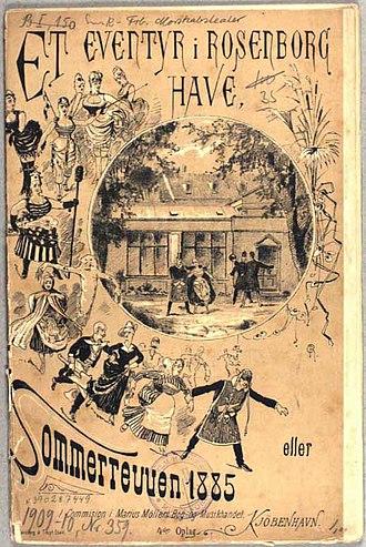 Betty Nansen Teatret - Poster for Frederiksberg Morskabsteater's 1885 summer revue Eventyr i Rosenborg Have