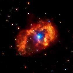 Eyes on Eta Carinae - What's Up with the Most Luminous & Enigmatic Star in the Milky Way? 250px-EtaCarinaeStarSystem-ChandraXRayObservatory-20140826