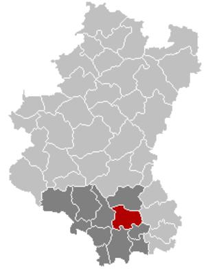 Étalle, Belgium - Image: Etalle Luxembourg Belgium Map