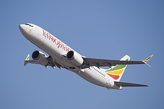 Ethiopian Airlines Flight 302 - ET-AVJ, the aircraft involved in the accident, seen in February 2019
