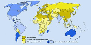 English: The largest ethnic group as percent o...