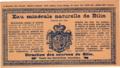 Etiketa Eau minerale naturelle de Bilin France 1900.png