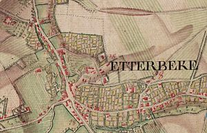 Etterbeek - Ferraris Map of Etterbeek (Bruxelles) in 1777