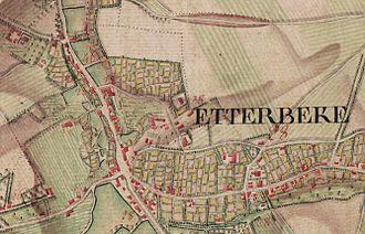 Etterbeek - Ferraris Map of Etterbeek (Bruxelles) in 1777