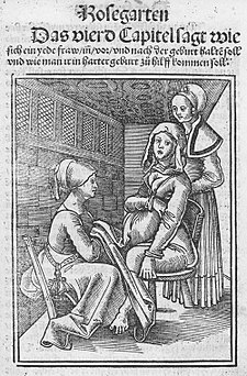 Eucharius Rößlin Rosgarten Childbirth.jpg