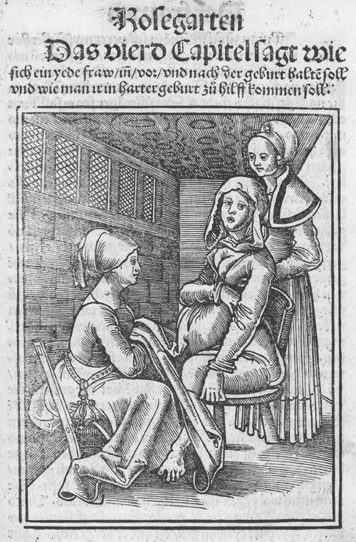 Eucharius Rößlin Rosgarten Childbirth