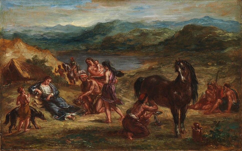 Eugène Delacroix - Ovide chez les Scythes (1862)