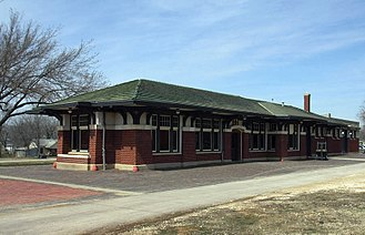 National Register of Historic Places listings in Greenwood County, Kansas - Image: Eureka Santa Fe Depot