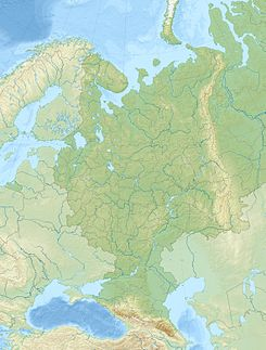 Embalse de Volgogrado ubicada en Rusia europea