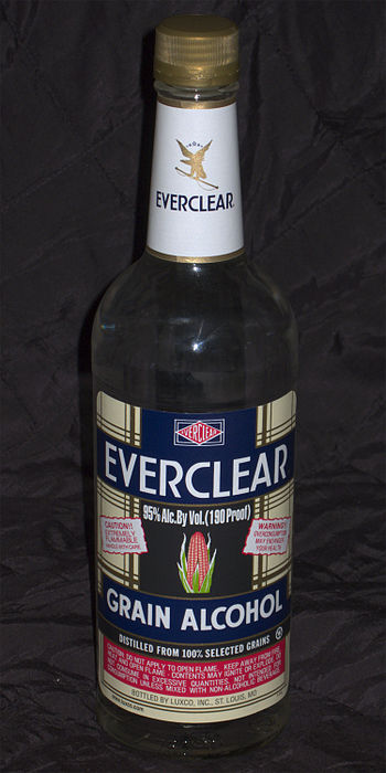 English: 190 proof, 95% alcohol content Evercl...