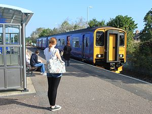 Exmouth railway station - Image: Exmouth FGW 150233 arriving from Barnstaple