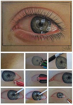 Eye drawing with details