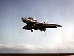 F9F-6 of VF-143 landing on USS Kearsarge (CVA-33) 1953.jpg