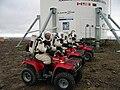 FMARS Crew 2 Members on ATVs 2001-07-15.jpg