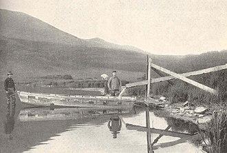 Harry Clifford Fassett - Image: FMIB 40778 Method of Drawing off fry from nursery pond, Karluk Hatchery, Kadiak Island