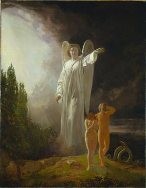 John Faed - Expulsion of Adam and Eve, circa 1880, Cleveland Museum of Art.