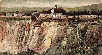 Falun Mine - A postcard depicting the mine, circa 1907.