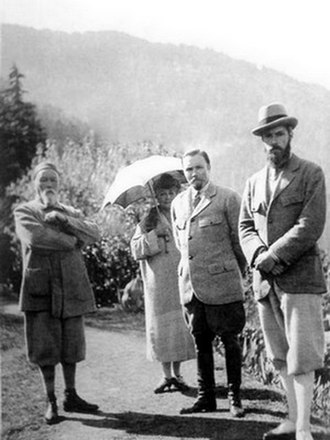 Rerikhism - Roerich's family: Nicholas, Helena, George, and Svetoslav. (Kullu valley, India)
