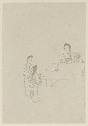 Ban Zhao - Ban Zhao, as painted by Gai Qi, 1799
